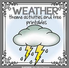 weather theme activities and printables for preschool pre