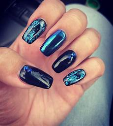 black and blue nails nails blue nails black nail designs
