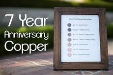 7 Year Wedding Anniversary Traditional Gift 7 year anniversary present copper project anniversary