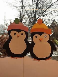 Bastelvorlage Pinguin Papier - penguins for your winter window decoration or paper
