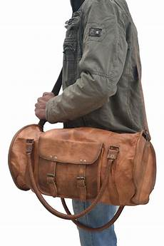 distressed 28 leather overnight bag weekend travel