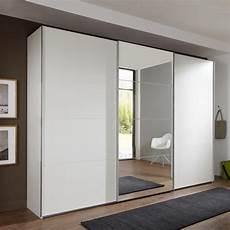 Schlafzimmer Spiegel Groß - crato mirrored sliding wardrobe large in white with 3