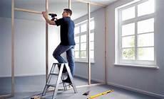 trennwand selbst bauen wand einziehen home ideen