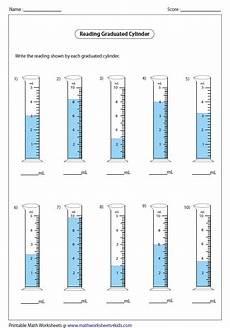 volume measurement worksheets free 1630 reading cylinders decimals физика 1 класс математика образование на дому