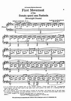 moonlight sonata first movement by ludwig van be j w pepper sheet music