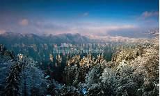 winter snow in zhangjiajie