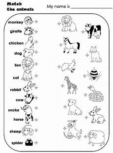 animal worksheets grade 5 13877 worksheets for preschoolers matching animals match the animals animal matching atividades