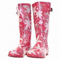 Gummistiefel Mit Blumen - gummistiefel damen stiefel blumen weiter schaft passform