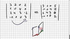 05b 3 eine 4x4 determinante ausrechnen