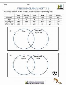 venn diagrams probability worksheets with answers 5956 venn diagram worksheets 3rd grade