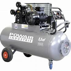 Compresseur Mobile 200 L 5 5 Cv Triphas 233 Powair Industrie