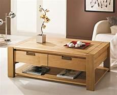 Table Basse En Bois Massif 2 Tiroirs Table Basse