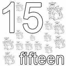 kostenlose malvorlage englisch lernen fifteen zum ausmalen