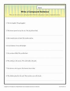 writing basic sentences worksheets 22123 write a compund sentence simple sentences sentences and worksheets