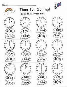telling time by the hour worksheets for kindergarten 3602 kindergarten telling time set by njf teachers pay teachers