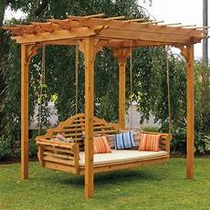 pergola swing a l western cedar pergola swing bed set