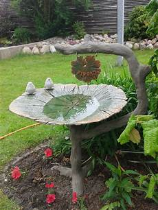 Beton Blad Fugle Bad Concrete Leaves Garden