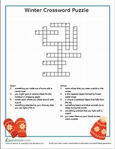 winter crossword worksheets 19981 winter crossword puzzle free printable free printable crossword puzzles puzzles for