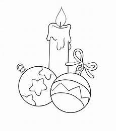 disegni di candele natalizie candela e palline natalizie da colorare natale