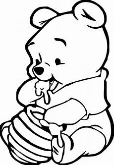 cute baby winnie the pooh eating hunny coloring page disney animal coloring pages disney
