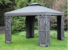 Alu Pavillon Mit Seitenteilen 3x3 3 Farben Aluminium