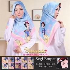 Jilbab Segi Empat Satin Motif Snow White Jilbab Karakter
