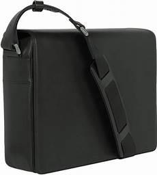 porsche design black leather messenger bag in black for
