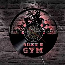 1piece goku s gym led wall l vinyl record wall clock
