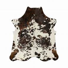 kuhfell teppich braun geniune 100 cowhide rug brown with white spots