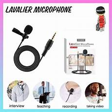 phone interview shopee lavalier microphone clip on 3 5 audio recording microphone interview microphone for ios android