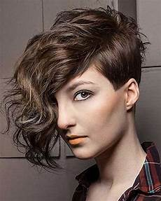 short curly asymmetrical bob haircut for fine hair in 2020