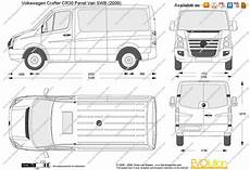 Volkswagen Crafter Cr30 Panel Swb Vector Drawing