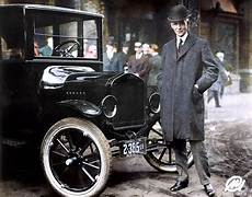 Henry Ford In 1921 With His Model T Colorizedhistory