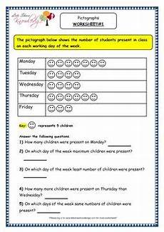 grade 3 maths worksheets pictorial representation of data 15 1 handling data pictographs