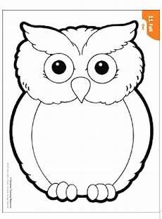 Malvorlage Kinder Eule Owl Kinder Craft Eulenmuster Eulen Basteln Vorlage