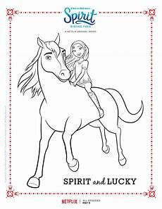 Spirit Und Lucky Malvorlagen Spirit Free Spirit And Lucky Coloring Page
