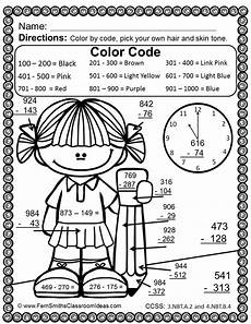 3rd grade math worksheet color by number 3rd grade go math 1 10 color by numbers use place value to