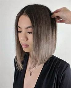 a line bob hairstyles with bangs for flattering looks