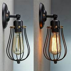 vintage industrial loft rustic cage sconce wall light wall