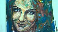painting a portrait with acrylic paint by gordon berger