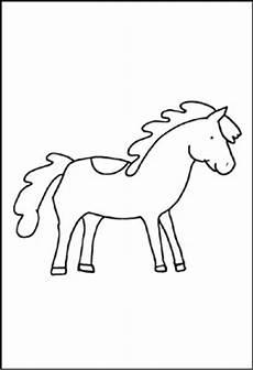 ausmalbilder pferde hindernis
