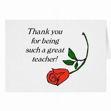 thank you card for teachers template thank you card zazzle