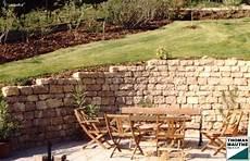 steinmauer steinmauer garten gartengestaltung und
