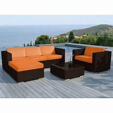 Salon De Jardin En R 233 Sine Quot Valentino Quot Orange Marron