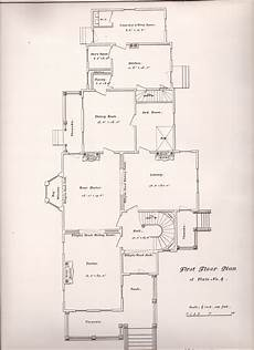 second empire victorian house plans plate no 5 first floor plan of plate no 4 g b croff