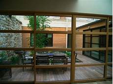 baie vitrée coulissante 4 m maison loft en bois