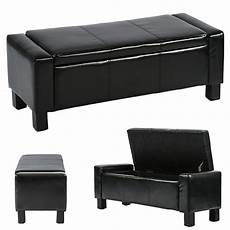 ottoman storage ottoman bench bedroom bench with faux rectangular large 42 quot tufted black