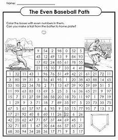 fun with even numbers color the even numbers to help the batter find homeplate the kids will