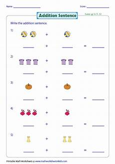 1st grade math worksheet addition with pictures addition with pictures worksheets