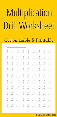 multiplication drill worksheets free 4371 multiplication drill worksheet customizable and printable multiplication math drills